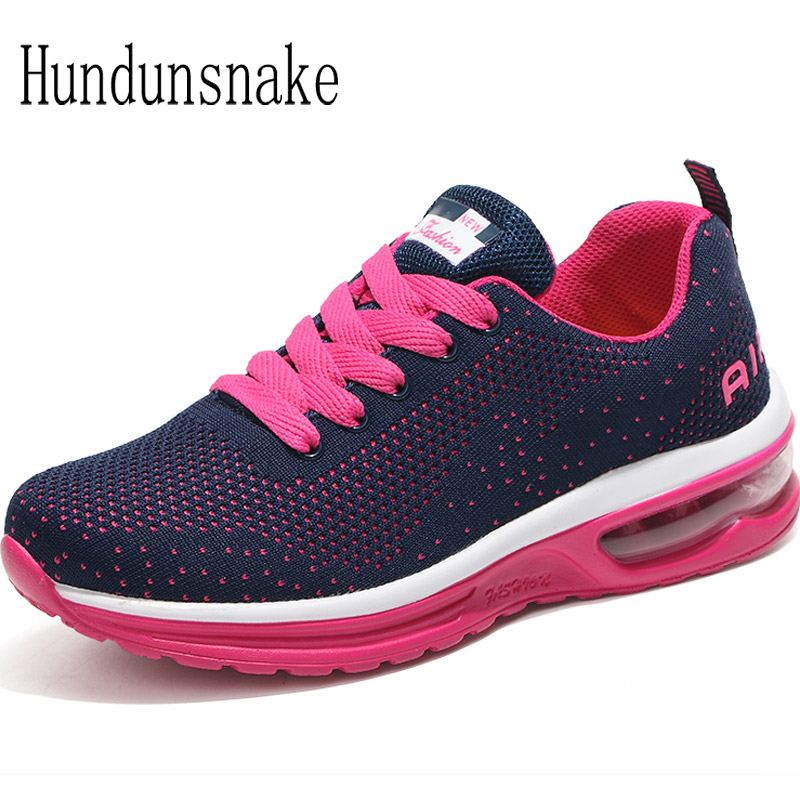 Hundunsnake Running Shoes For Women Sneakers 2018 Basket Femme Jogging Shoe Air Outdoor Sport Shoe Women's Gumshoe Athletic T445