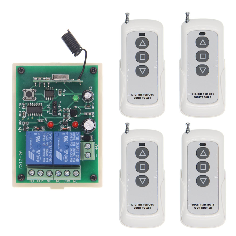 500M DC 12V 24V Tubular Motor Remote Switch Shutter Curtains Forwards Reverse Up Down Wall Screen Transmitter With Holder