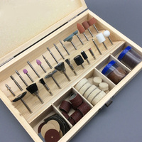 100pcs Set Electric Tools Wooden Box Accessory Kit 3mm Shaft Drilling Sawing Grinding Sharping Polishing Dremel