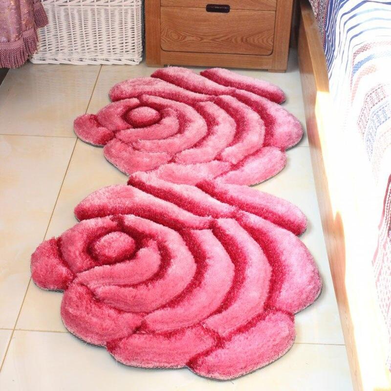 Nouveauté 3D Floral tapis tapis tapis Rose moderne tapis pour salon zone douce tapis chambre salle de bains porte tapis