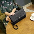 2016 new women's handbag messenger bag female day clutch envelope black bag Ms. shoulder mobile wallet Korean wave packet bag
