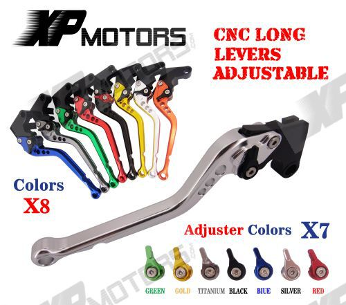 CNC Long Adjustable Brake Clutch Levers For Suzuki GSF650 /S Bandit GSF1200 GSF1250 GSX1250 F/SA/ABS NEW цена
