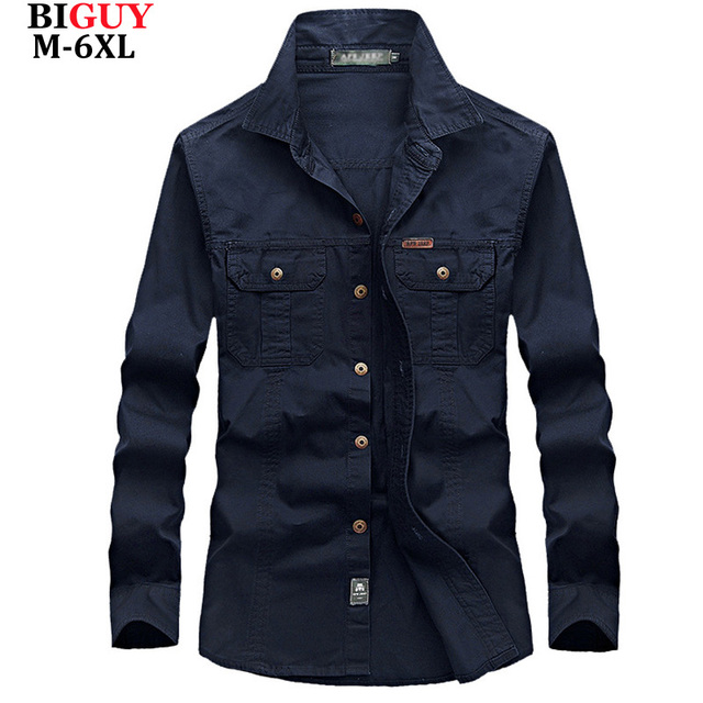 9f989fc57b 4XL 5XL 6XL Tallas grandes Camisas Masculinas Primavera de Algodón  Ocasional de Los Hombres camisas de