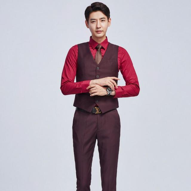 50840f99d623b1 Men's vest formal wedding the groom waistcoat handsome hot sale high  quality customized business men vest