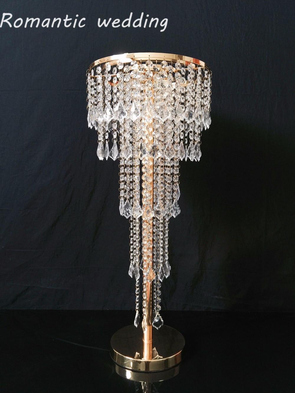 2ks / lot Doprava zdarma Krásný akrylátový kovový stojan 40´'tall 5-ti úrovní Lustr pro svatební párty Party Party dekorace