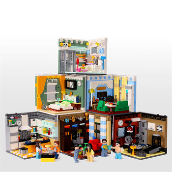XINGBAO 01401  Building Series The Living House Set Educational building blocks Model Action Figure Toy Kids gifts