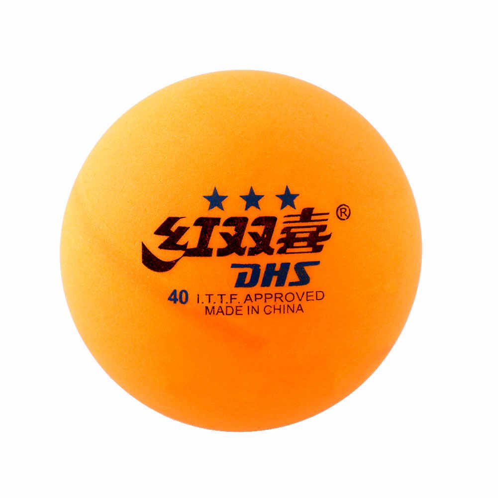 Good deal High Quality 1 boxes 6 Pcs 3 stars DHS 40MM Olympic Table Tennis Orange Yellow Ping Pong Balls Durable For Competition