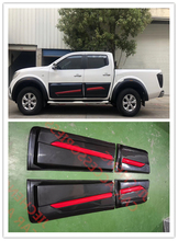 HOT SELL Exterior body cladding kits ONLY FIT FOR 4DOOR STYLING MOULDING DOOR COVER NAVARA NP300 4 COVERS 2015-2017