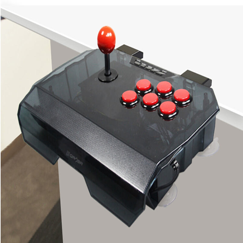 QANBA N1-G arcade joystick USB cable arcade game for PS3/PC/PC360/Android smart TV KOF transparent shell free shipping dilong pu305 usb wired pc game pad shocks joystick black 170cm cable