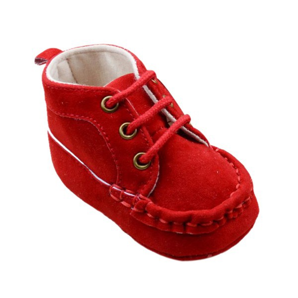 Infant First Walkers Girl Knitted Lace UP Sneaker Canvas Toddler Warm Baby Shoes Prewalker