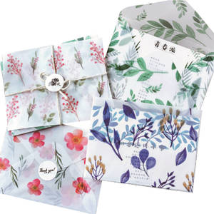 Sulfuric-Acid Paper-Envelope School-Supplies Creative 3pcs/Pack Into Office Four-Seasons