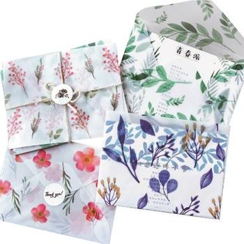 цена на 8pcs/lot Creative Four Seasons Sulfuric Acid Paper Envelope Into Random Office School Supplies Four Selsction