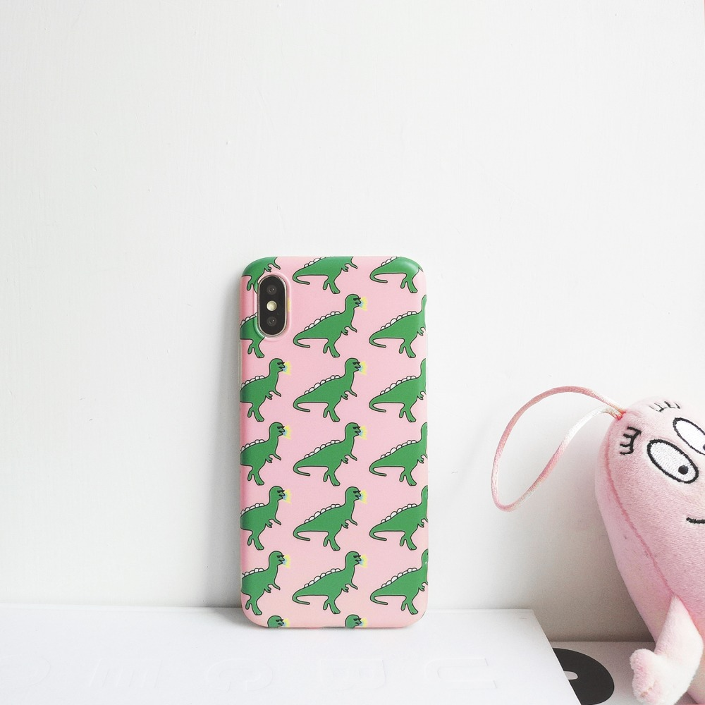 Dinosaur Animal Patterned Hard Case For Iphone 6 6s 7 8 Plus x Xr Xs Max Hard Back Cover For Iphone Xs Max Hard Case in Fitted Cases from Cellphones Telecommunications