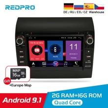 Android 9,1 estéreo del coche para Fiat Ducato Citroën Jumper PEUGEOT Boxer DVD Player GPS Navi Autoradio Video 2 Din Multimedia ESTÉREO