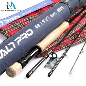Maximumcatch Saltpro Saltwater Fly Rod Fast Action 30T+40T SK Carbo Fly Fishing Rod With Cordura Tube 8/9/10WT 9FT 4SEC