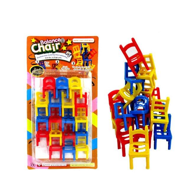 18PCS Balance game Mini Chair Toy Balance Stacking Chairs ...