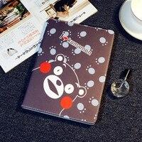 Alabasta Tablet Custodia In Pelle per iPad Air 1 2 ipad 5 6 Bella Kumamon Orso Stile Cartone Animato di Protezione Smart Cover di Sonno + Stylus Pen