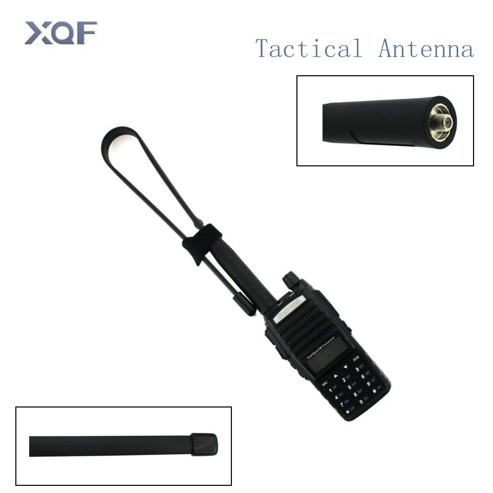 CS Taktische Antenne SMA-Weibliche Dual Band VHF UHF 144/430 mhz Gain Faltbare Herrscher Antenne Für Walkie talkie Baofeng UV-5R UV-82