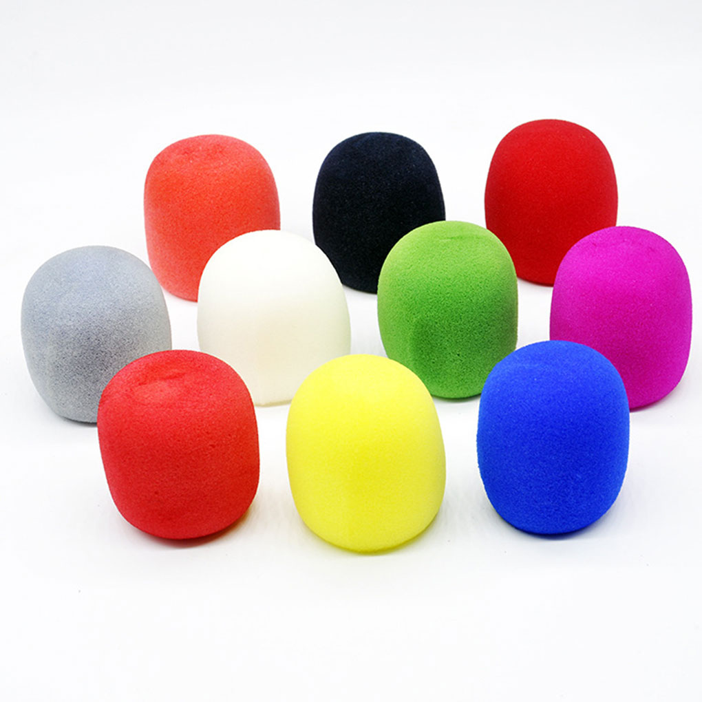 12 Pcs Microphones Sponge Covers Windscreens Washable Thicken Windshield Home KTV Universal Accessories