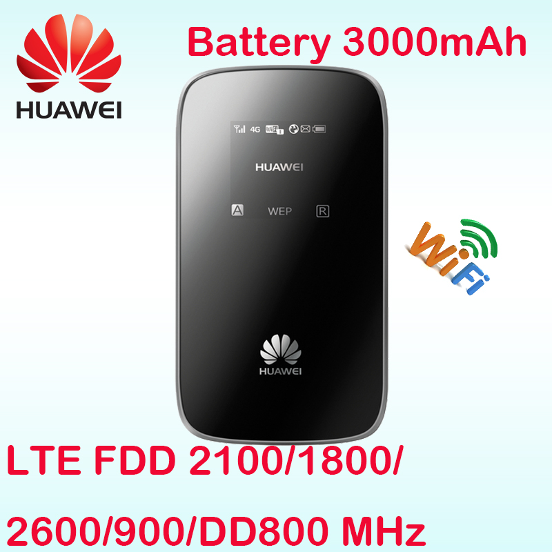 Unlocked Huawei E589 E589u-12 LTE 4g wifi router Hotspot 4g FDD band 20 DD800 router mifi 4g sim card slot lte router wifi 4g wifi router unlocked 3g 4g lte travel router 5200mah power bank fdd lte car wifi router with sim card slot up to 10 users