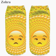 Funny Emoji stickers Graphic 3D Full Print Women's Men Unisex Low Cut Ankle Socks Multiple Colors Cotton sock Casual Hosiery