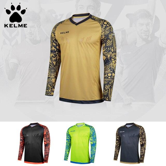 d81cdaf0620 KELME Tops Soccer Goalkeeper Clothing Children Soccer Jerseys Kids Football  Survetement Training Doorkeepers Jersey K080C