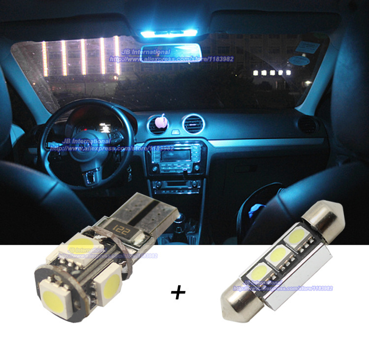led parking xenon whitecar canbus interior light bar kit for vw tiguan ncar led light