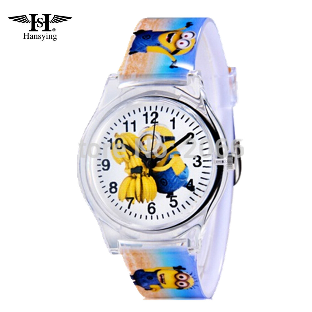 Eye Despicable Me Minions Cartoon Design 10M waterproof watch / Precious Milk Dad Cute Children clock / kid Quartz Wrist Watches joyrox minions pattern children watch 2017 hot despicable me cartoon leather strap quartz wristwatch boys girls kids clock