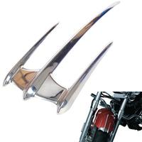 Chrome Motorcycle Fairing Triceptor Fender Accent Trim Case for Yamaha XVS650 XV1100 V Star 1999 2010