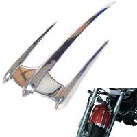 Chrome Motorcycle Fairing Triceptor Fender Accent Trim Case for Yamaha XVS650 XV1100 V Star 1999 2010
