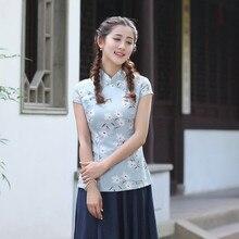 ใหม่มาถึงฤดูร้อนสไตล์จีนผ้าลินินผ้าฝ้ายชุดผู้หญิงรสtopsเสื้อหรูหราแบบดั้งเดิมเสื้อบางmlxlxxlxxxl2518-7