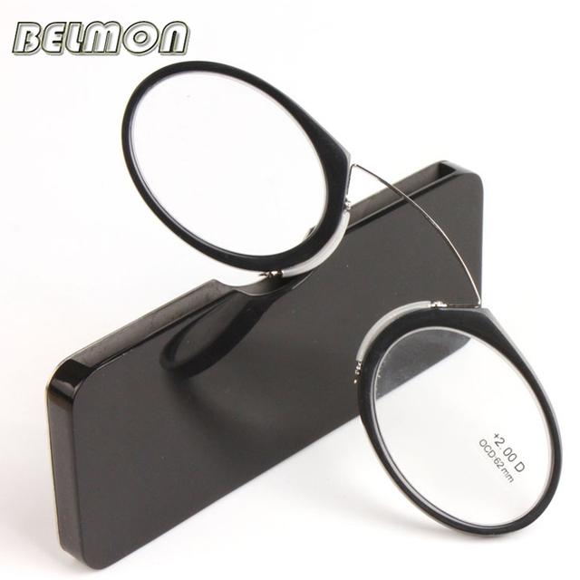 Clip de la nariz Magnética Gafas de Lectura Hombres Mujeres TR90 Hombres Gafas de Presbicia Gafas de Dioptrías + 1.0 + 1.5 + 2.0 + 2.5 + 3.0 + 3.5