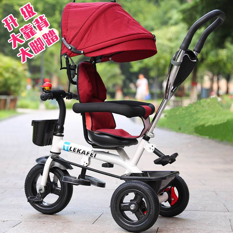 Direct offer Child tricycle big swivel seat bike for 1 - 6 years old trolley baby bicycle buggiest  baby stroller baby stroller pram bb rubber wheel inflatable tires child tricycle infant stroller baby bike 1 6 years old bicycle baby car