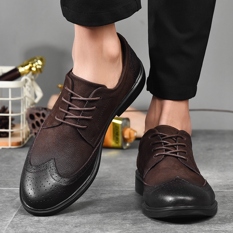 Casual Brogues Shoes Lazy Sets Breathable Driving Men Oxfords New British Style Fashion Brand Dress Shoes Male Adult Loafers