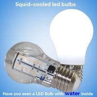 New E27 high quality high power liquid cooled led light bulbs A15 6w 8w led light 120lm/w led lights AC110V 220V led bulbs