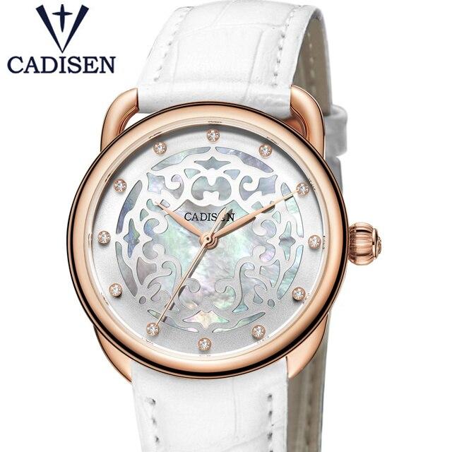 2017 CADISEN de luxe mode femmes montres conception Unique étanche montre-bracelet genève Hodinky horloge Relogio Feminino cadeau