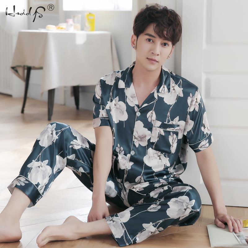 Image 3 - Lovers Winter Pajamas Couples Unisex Silk Sleepwear Soft Pyjama Sets Nightgown Women Pajama Sets Long Sleeve Men Lounge Pijamas-in Men's Pajama Sets from Underwear & Sleepwears