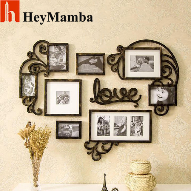 HeyMamba Vintage Heart shaped Wall Photo Frames For Picture Love ...