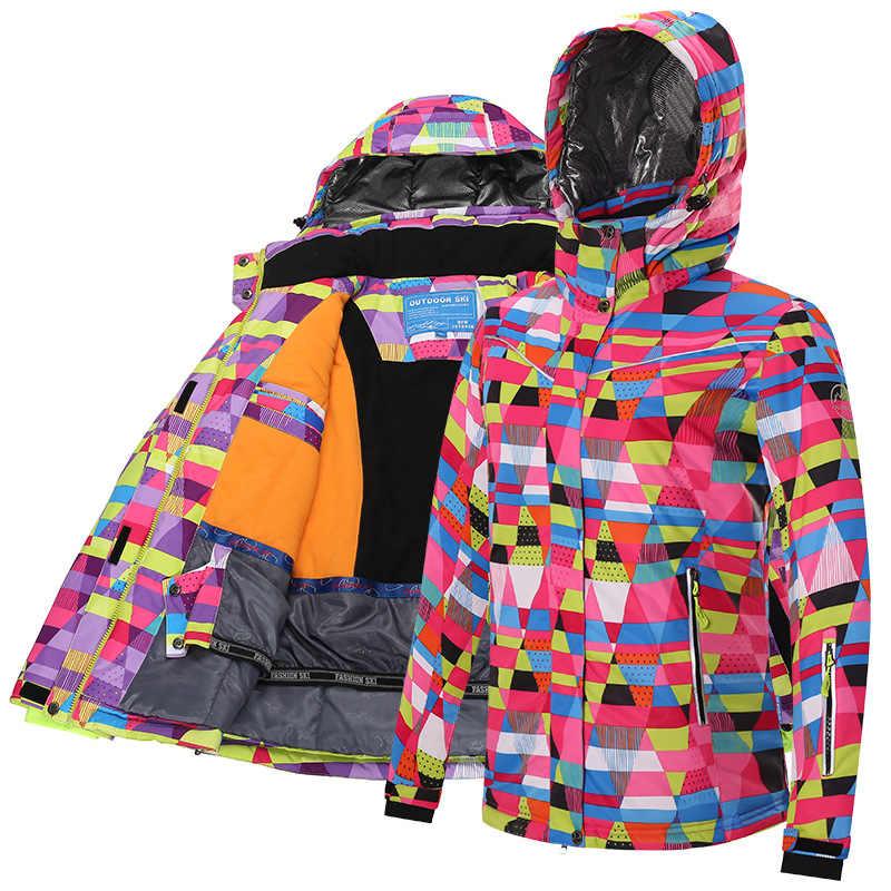 Ski Jacket Women Windproof Waterproof Warm Winter Jackets Outdoor Sport Snow  Coat Skiing Snowboarding Clothing c365cf3fd