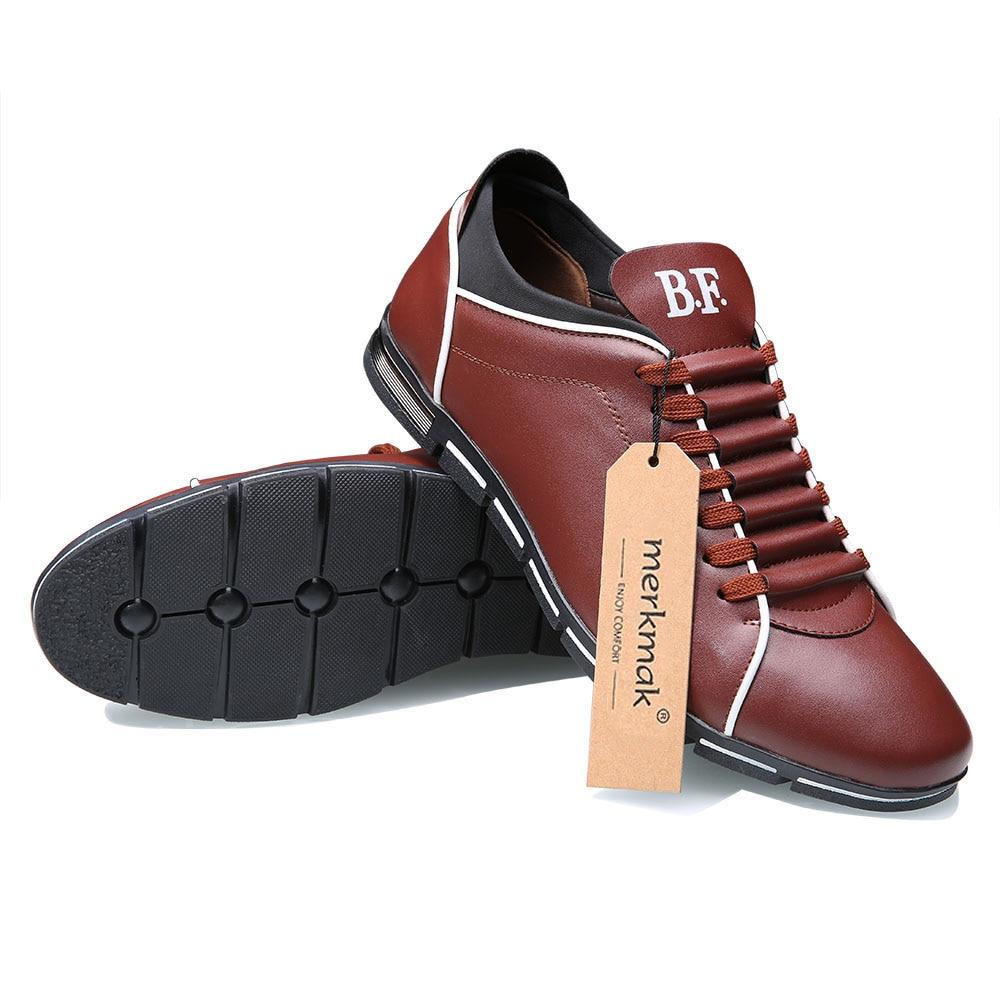 Merkmak Big Size 38-48 Men Casual Shoes Fashion Leather Shoes for Men Summer Men's Flat Shoes Dropshipping 5
