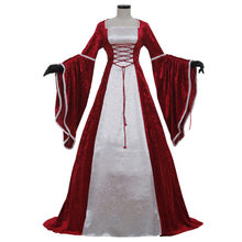 Red and White Medieval Victorian Renaissance Dress Adult Women Lady Ball  Gowns Dress Halloween Party Clothing Custom Made 5b61265fb