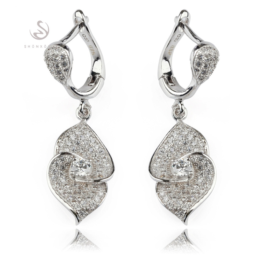 Fleure Esme Christmas gift White Cubic Zirconia Earrings Silver Plated R3150 Engagement Wedding Promotion Favourite Best Sellers
