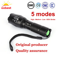 Oobest High Bright E17 3000 Lumens XM L T6 LED Flashlight 5 Mode Zoomable Linternas LED
