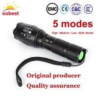 Oobest High Bright E17 3000 Lumens XM L T6 LED Flashlight 5 Mode Zoomable Linternas LED