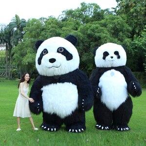 Image 2 - פנדה מתנפח תלבושות דוב קוטב קמע מתנפח תלבושות ליל כל הקדושים תלבושות עבור 3M גבוה מתאים עבור 1.7m כדי 1.95m למבוגרים