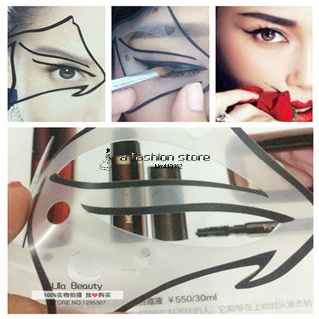 1pc Super Cat Eyeliner Stencil 7 model for Classic Cat Eye Nude Make-up Shadow Template Eye Liner Makeup A Guide Diy Card Kit