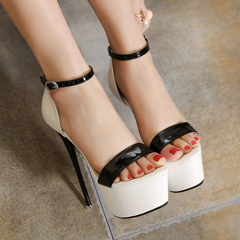 3 Color T-stage High Heel Sandals Pumps