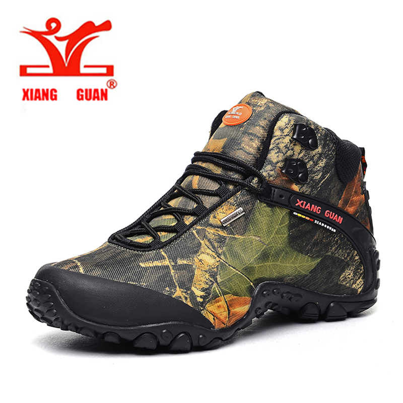 ФОТО 2016 XIANGGUAN Man Outdoor Shoes Waterproof Breathable Hiking Shoes For Women Climbing Outdoor Trekking Sneakers EUR SIZE 36-48