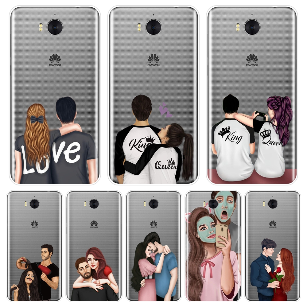<font><b>Case</b></font> For <font><b>Huawei</b></font> Y5 Y6 <font><b>Y7</b></font> Prime 2017 2018 Y9 <font><b>2019</b></font> Silicone Soft Couple Love Back Cover For <font><b>Huawei</b></font> Y3 Y5 Y6 II <font><b>Y7</b></font> Pro Phone <font><b>Case</b></font> image