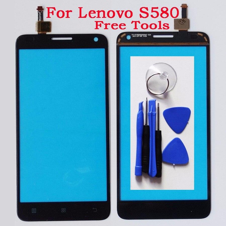 Envío libre pantalla táctil del teléfono móvil táctil de reemplazo para Lenovo S580 pantalla táctil delantera del sensor